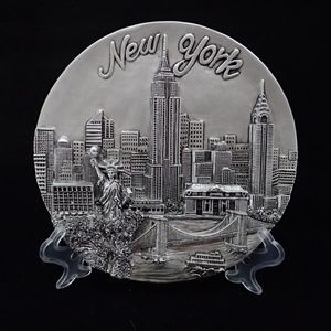 New York Silver Plaque Plate - New